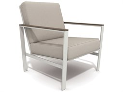 Quick Ship Echo Deep Seating Aluminum Resin Wood Lounge Chair