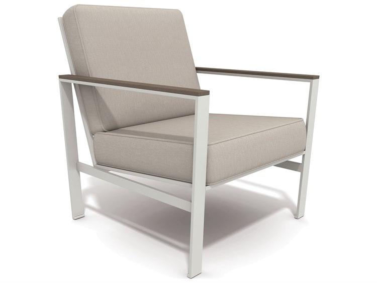 Winston Quick Ship Echo Deep Seating Aluminum Resin Wood Lounge Chair