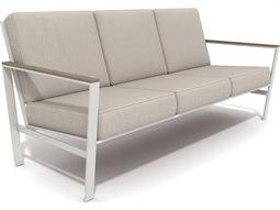 Quick Ship Echo Deep Seating Aluminum Resin Wood Sofa