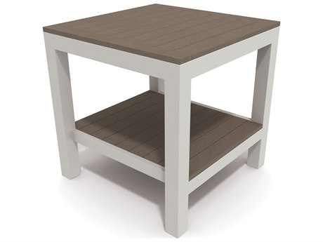 Winston Echo Deep Seating Aluminum Resin Wood 22 Square Side Table