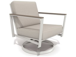 Quick Ship Echo Deep Seating Aluminum Resin Wood Swivel Tilt Lounge Chair