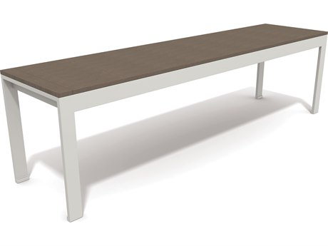 Winston Quick Ship Echo Aluminum Resin Wood 65 Bench PatioLiving