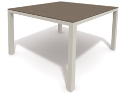 Winston Quick Ship Echo Aluminum Resin Wood 44 Square Balcony Table