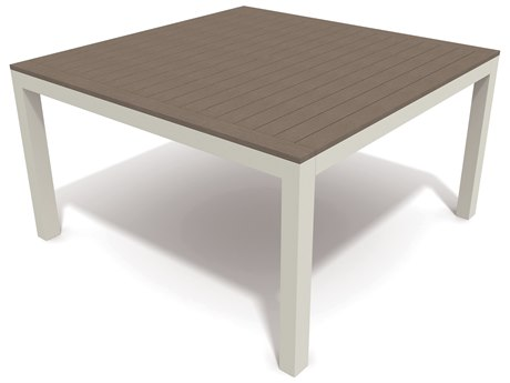 Winston Echo Deep Seating Aluminum Resin Wood 44 Square Chat Table
