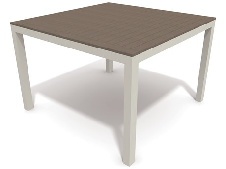 Winston Echo Aluminum Resin Wood 44 Square Dining Table
