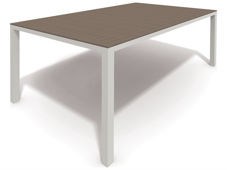 Winston Echo Aluminum Resin Wood 74 x 44 Rectangular Balcony Table