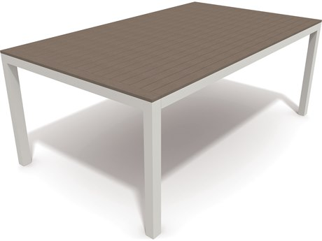 Winston Echo Aluminum Resin Wood 74 x 44 Rectangular Dining Table