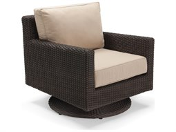 Quick Ship Capri Woven Cushion Swivel Tilt Lounge Chair