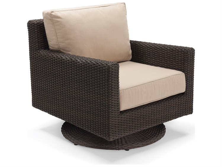 Winston Quick Ship Capri Woven Cushion Swivel Tilt Lounge Chair