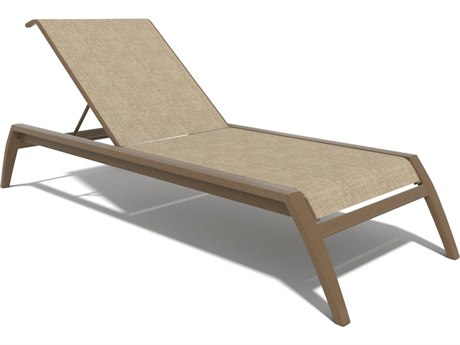 Winston Soho Quick Ship Birch Aluminum Chaise with Augstine Fennel Sling WSHQ163009