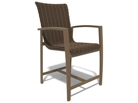 Winston Soho Woven Quick Ship Birch Finish with Warm Bronze Wicker Counter Height Stool WSHQ163014BWV