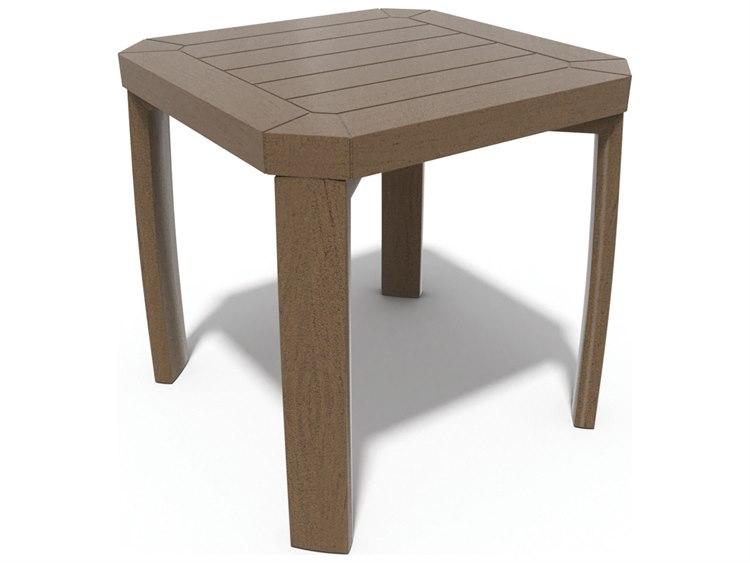 Winston Soho Tables Quick Ship Birch Aluminum 18'' Square End Table