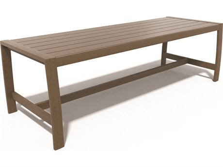 Winston Soho Quick Ship Birch Aluminum Bench