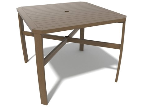 Winston Soho Tables Quick Ship Birch Aluminum 44'' Square Counter Table