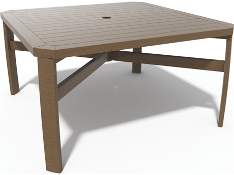 Winston Soho Tables Quick Ship Birch Aluminum 44'' Square Chat Table