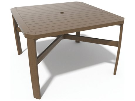 Winston Soho Tables Quick Ship Birch Aluminum 44'' Square Dining Table