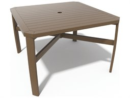 Soho Tables Quick Ship Birch Aluminum 44'' Square Dining Table