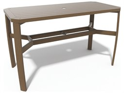Winston Soho Tables Quick Ship Birch Aluminum 64''W x 30''D Rectangular Balcony Table