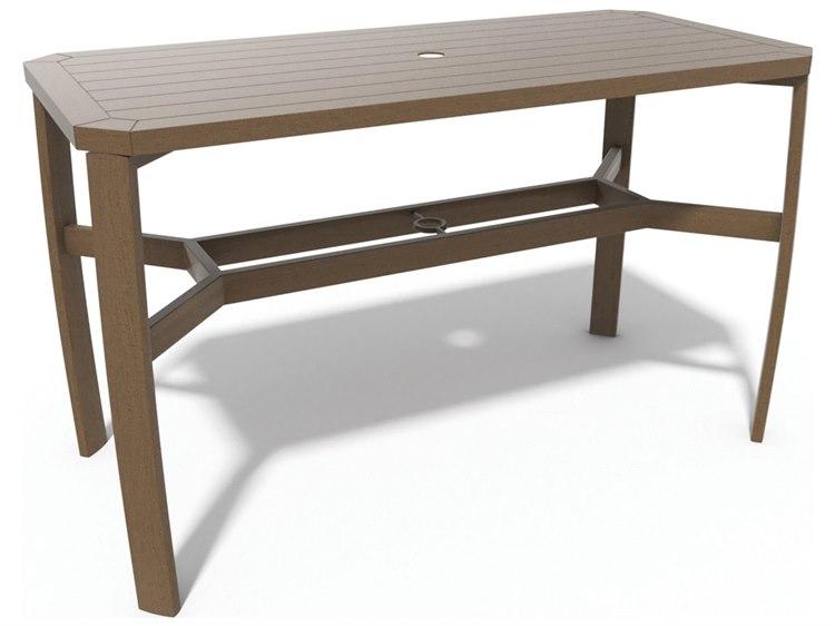 Winston Soho Tables Quick Ship Birch Aluminum 64''W x 30''D Rectangular Balcony Table