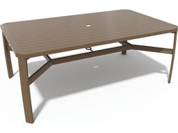Soho Tables Quick Ship Birch Aluminum 74''W x 44''D Rectangular Dining Table