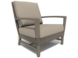 Winston Hampton Sectional Quick Ship Barnwood Finish and Parchment Wicker Lounge Chair