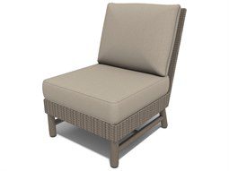 Winston Hampton Sectional Quick Ship Barnwood Finish and Parchment Wicker Modular Lounge Chair