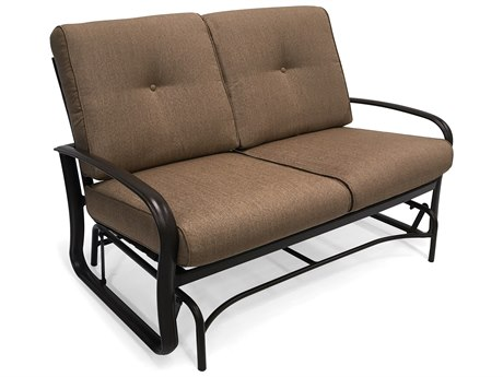 Winston Quick Ship Savoy Cushion Aluminum Loveseat Glider