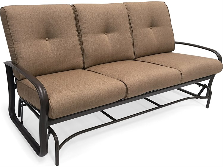 Winston Quick Ship Savoy Cushion Aluminum Sofa Glider