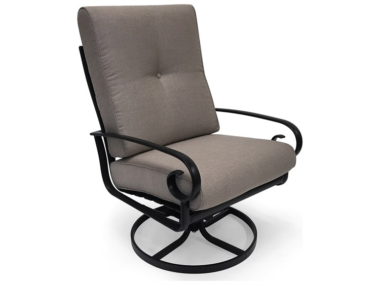 Winston Quick Ship Veneto Cushion Cast Aluminum Ultra Swivel Tilt Lounge Chair PatioLiving