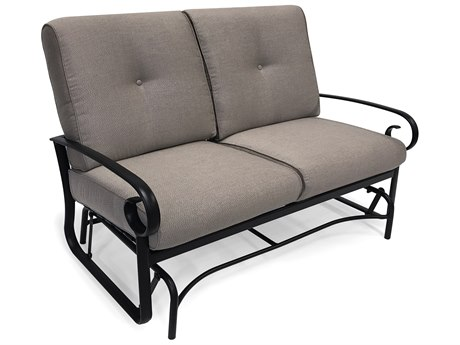 Winston Quick Ship Veneto Cushion Cast Aluminum Loveseat Glider