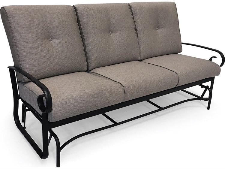 Winston Quick Ship Veneto Cushion Cast Aluminum Sofa Glider
