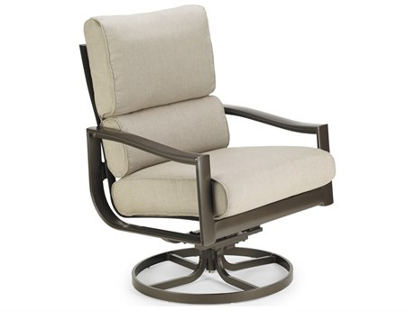 Winston Quick Ship Belvedere Cushion Aluminum Ultra Swivel Tilt Lounge Chair