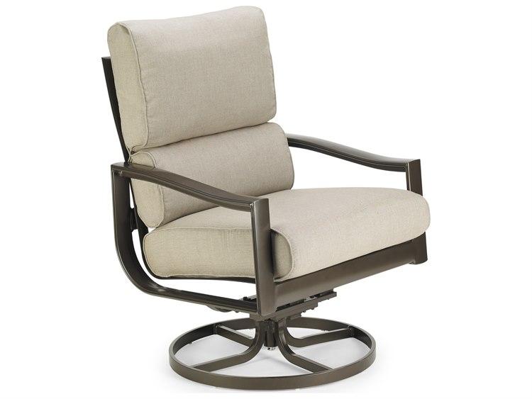 Winston Quick Ship Belvedere Cushion Aluminum Ultra Swivel Tilt Lounge Chair
