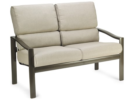 Winston Quick Ship Belvedere Cushion Aluminum Stationary Loveseat