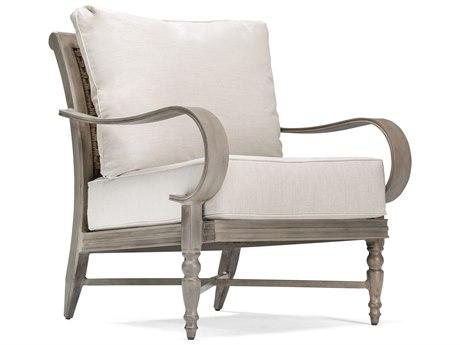 Winston Quick Ship Grayson Modern Greige Aluminum Lounge Chair