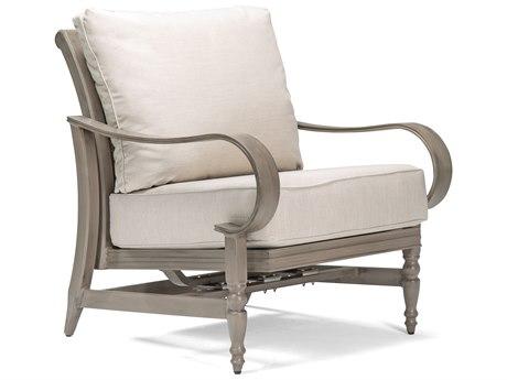 Winston Quick Ship Grayson Modern Greige Aluminum Motion Lounge Chair