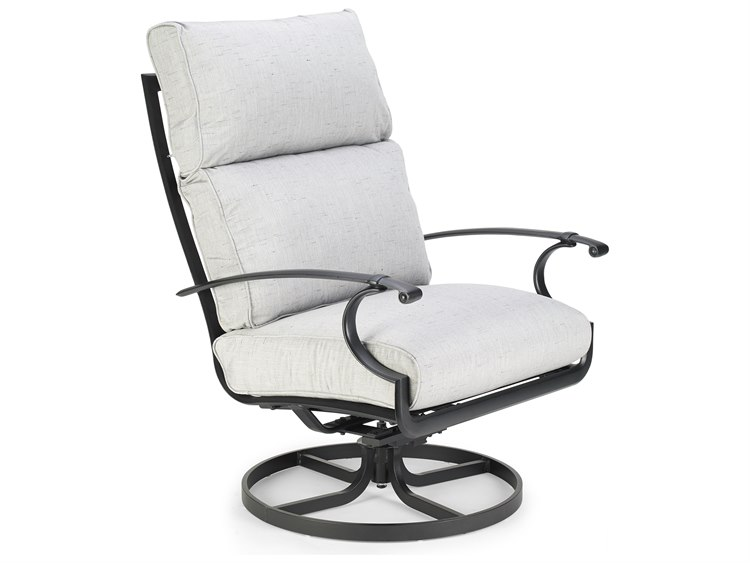 Winston Quick Ship Manor Deep Seating Cast Aluminum Ultra Swivel Tilt Lounge Chair