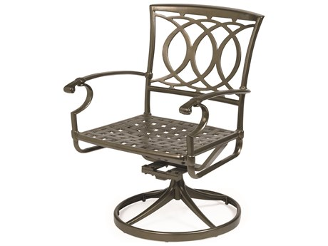 Winston Quick Ship Marseille Cast Aluminum Swivel Tilt Dining Chair