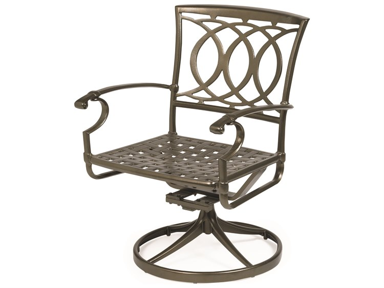 Winston Quick Ship Marseille Cast Aluminum Swivel Tilt Dining Chair