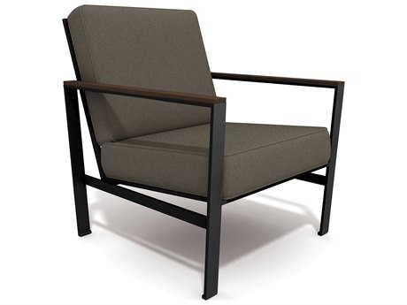Winston Quick Ship ECHO Mixed Media Textured Pewter Aluminum Lounge Chair