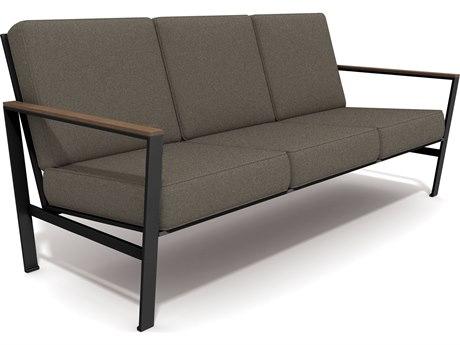 Winston Quick Ship ECHO Mixed Media Textured Pewter Aluminum Sofa