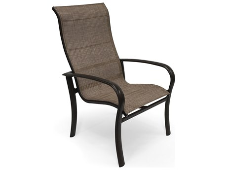 Winston Quick Ship Savory Sling Aluminum Ultimate High Back Dining Chair