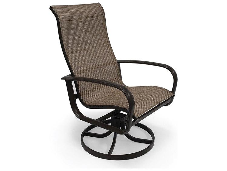 Winston Quick Ship Savoy Sling Aluminum Sling Hi Back Swivel Tilt Chat Chair
