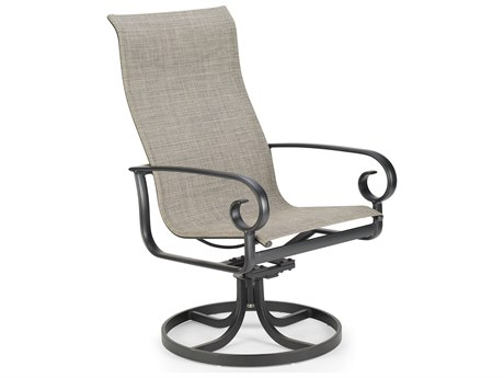 Winston Quick Ship Veneto Sling Cast Aluminum Ultimate High Back Swivel Tilt Chair