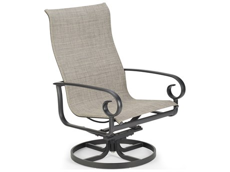 Winston Quick Ship Veneto Sling Cast Aluminum Swivel Tilt Chat Chair