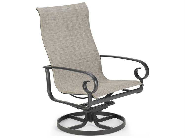 Winston Quick Ship Veneto Sling Cast Aluminum Swivel Tilt Chat Chair PatioLiving