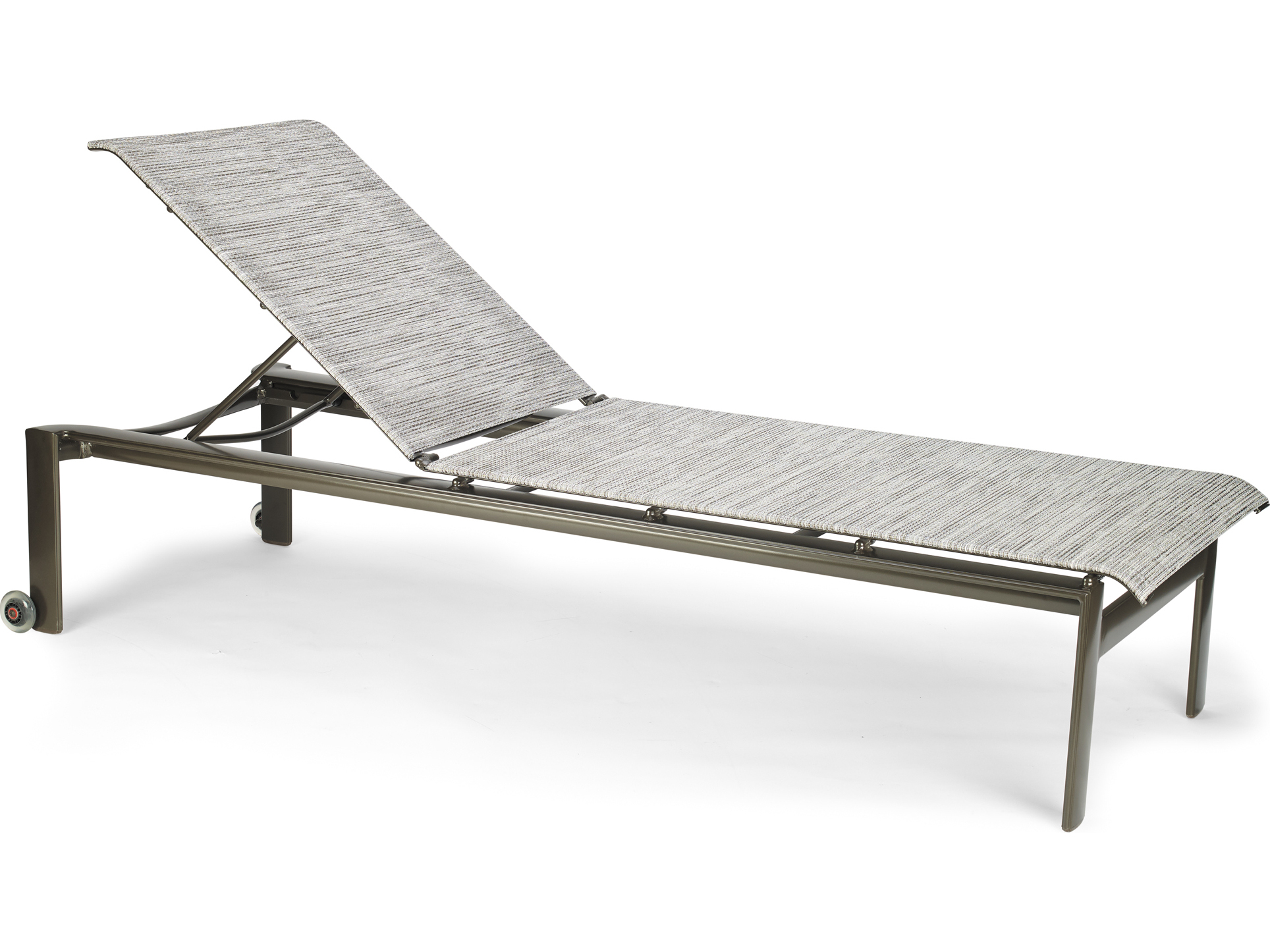 Winston quick ship breeze sling aluminum armless stack for Belvedere chaise lounge