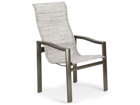 Winston Quick Ship Breeze Sling Aluminum Ultimate High Back Dining Chair