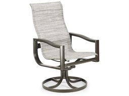 Quick Ship Breeze Sling Aluminum Ultimate High Back Swivel Tilt Chair