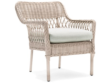 Winston Quick Ship Willow Coastal Drift Wicker Dining Arm Chair (Sold in Quantities of 2)